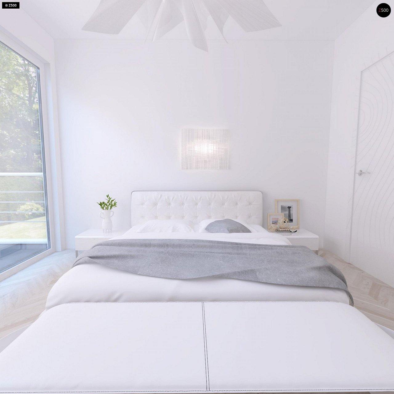 Проект компактного двухэтажного дома строгого современного стиля. 9
