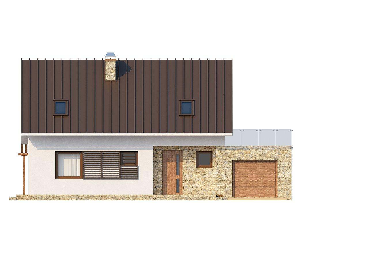 Уютный дом с кабинетом на первом этаже, оригинальным мансардным окном и террасой над гаражом. 3