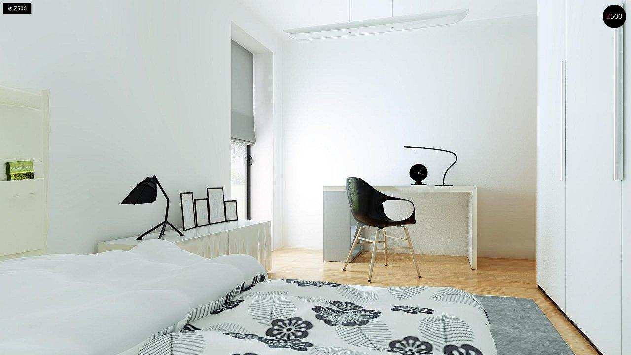 Современный комфортабельный одноэтажный дом с функциональным интерьером и уютной террасой. 23
