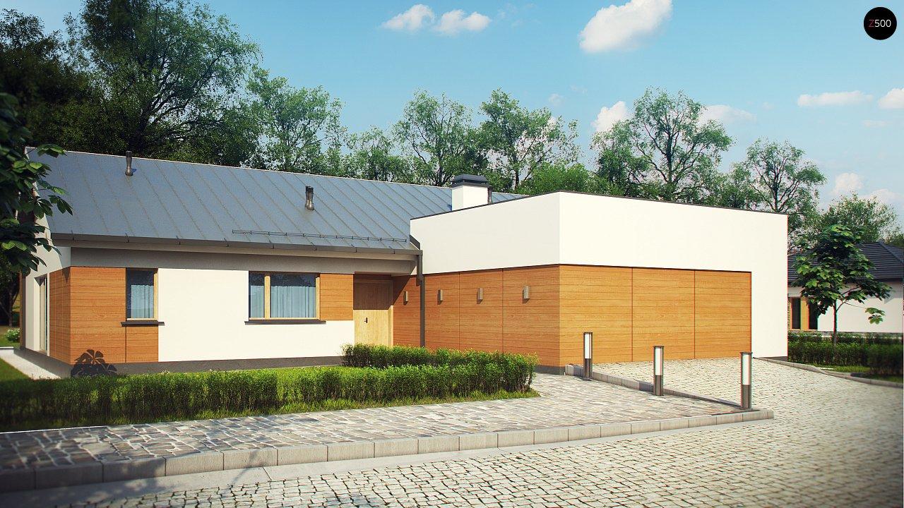 Комфортный функциональный одноэтажный дом простой формы и с гаражом для двух авто. 1