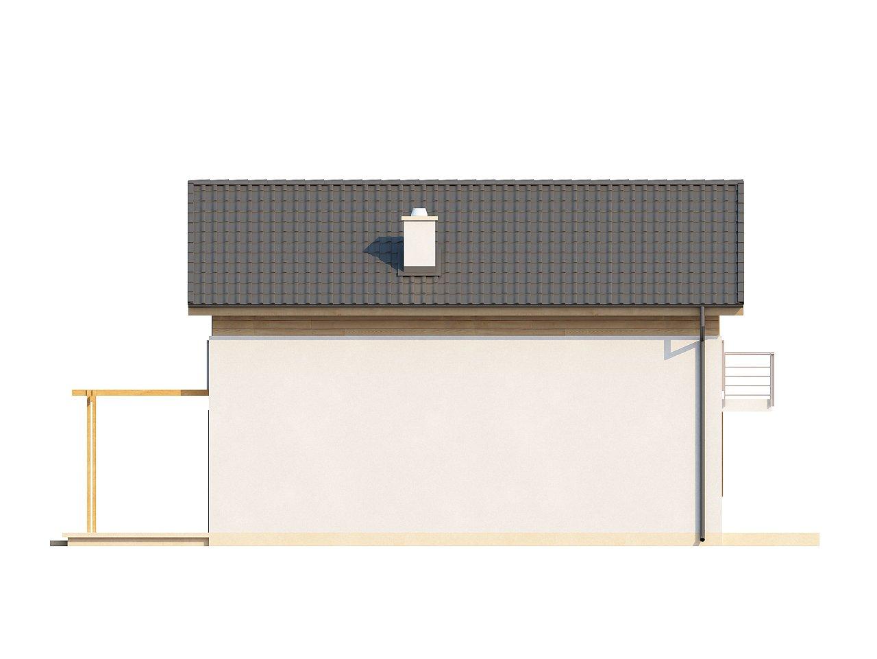Простой и удобный дом для узкого участка с высокой аттиковой стеной. - фото 15