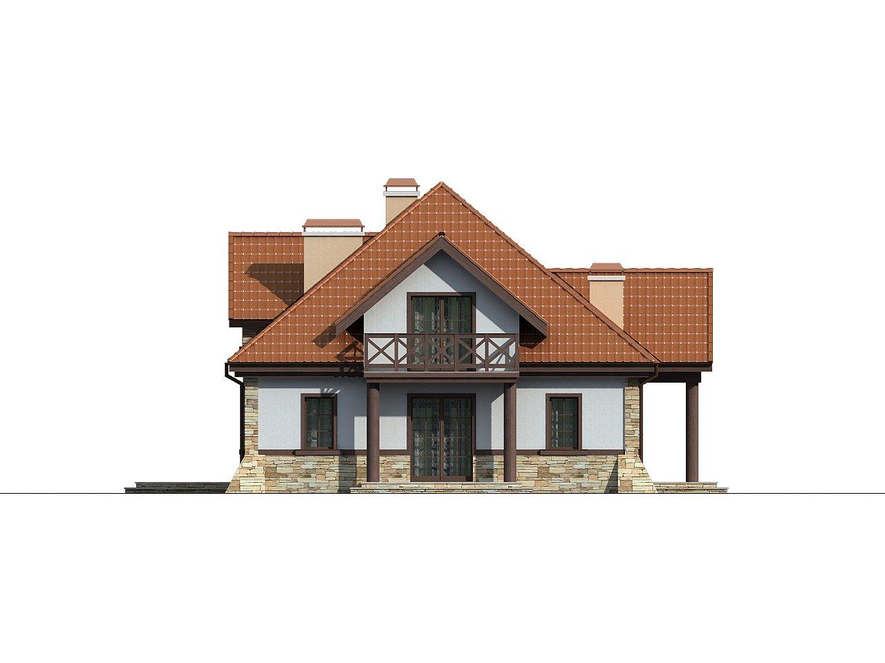Проект двухсемейного дома в стиле дворянской усадьбы. - фото 5
