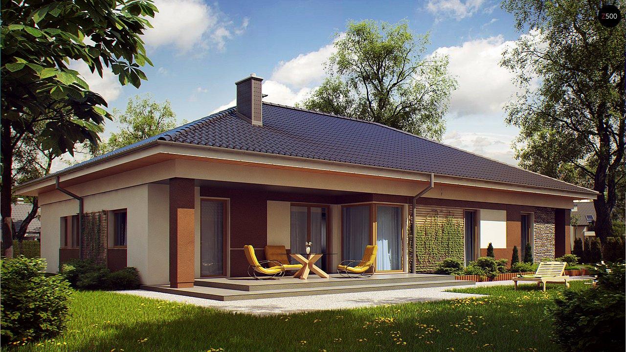 Проект просторного одноэтажного дома с 4 спальнями. - фото 2