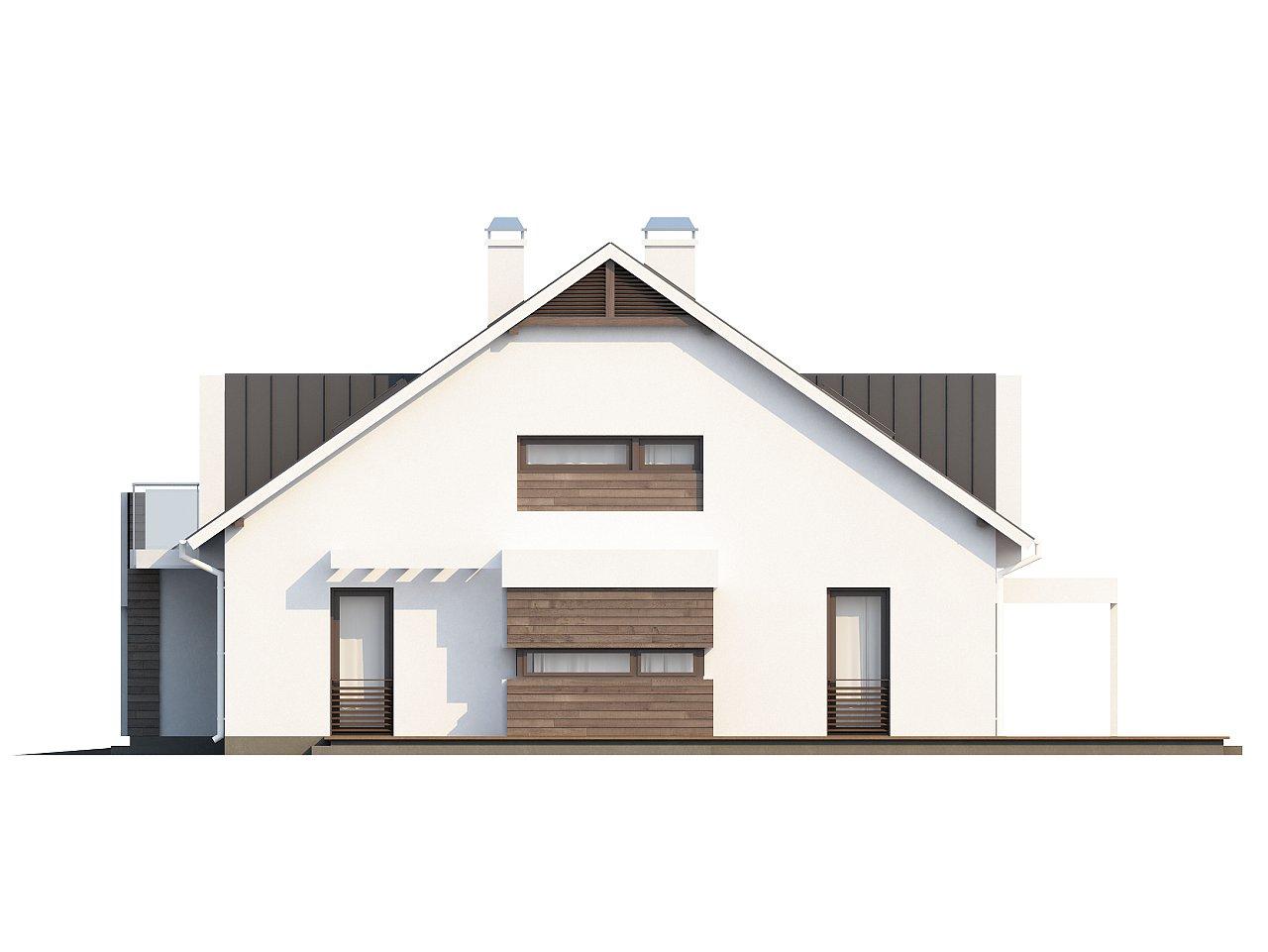 Стильный комфортный дом современного дизайна со встроенным гаражом. 6