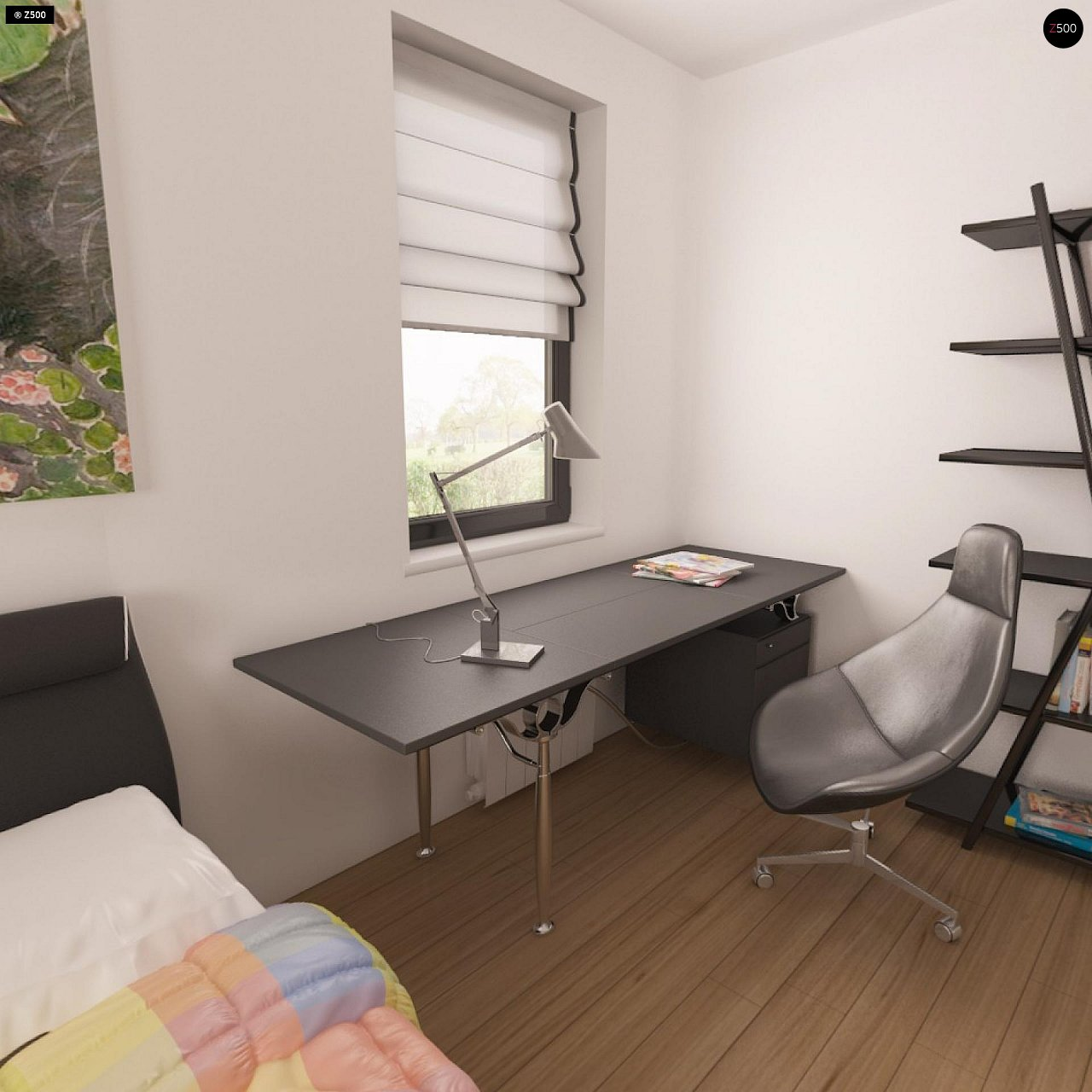 Практичный одноэтажный дом с гаражом для двух автомобилей и большим хозяйственным помещением. 11