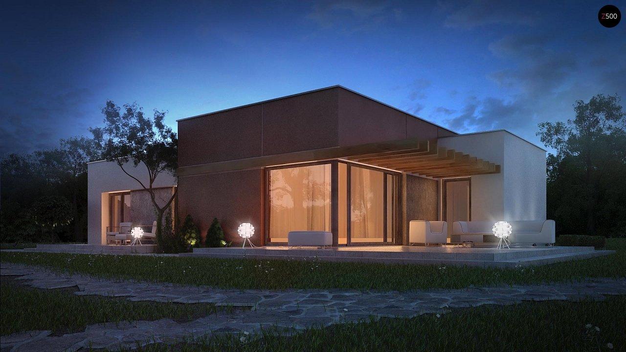 Одноэтажный дом в стиле хай-тек с четырьмя спальнями. - фото 4