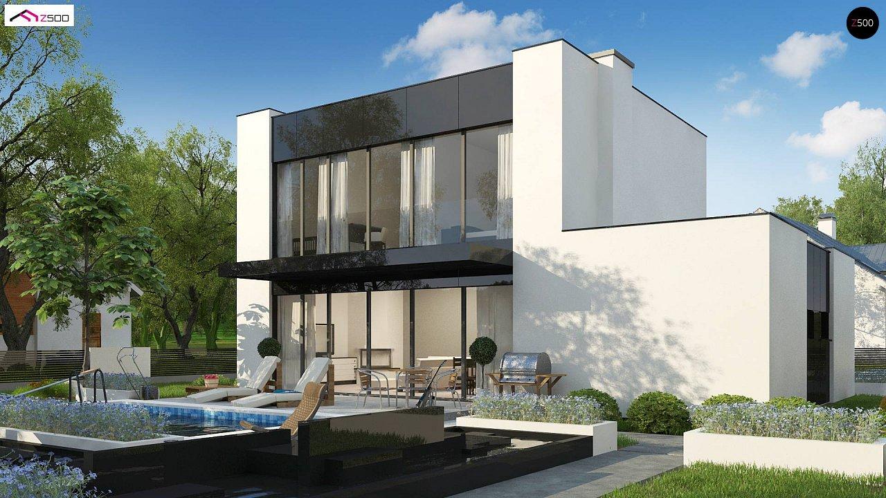 Проект современного односемейного дома с гаражом на одну машину. - фото 3