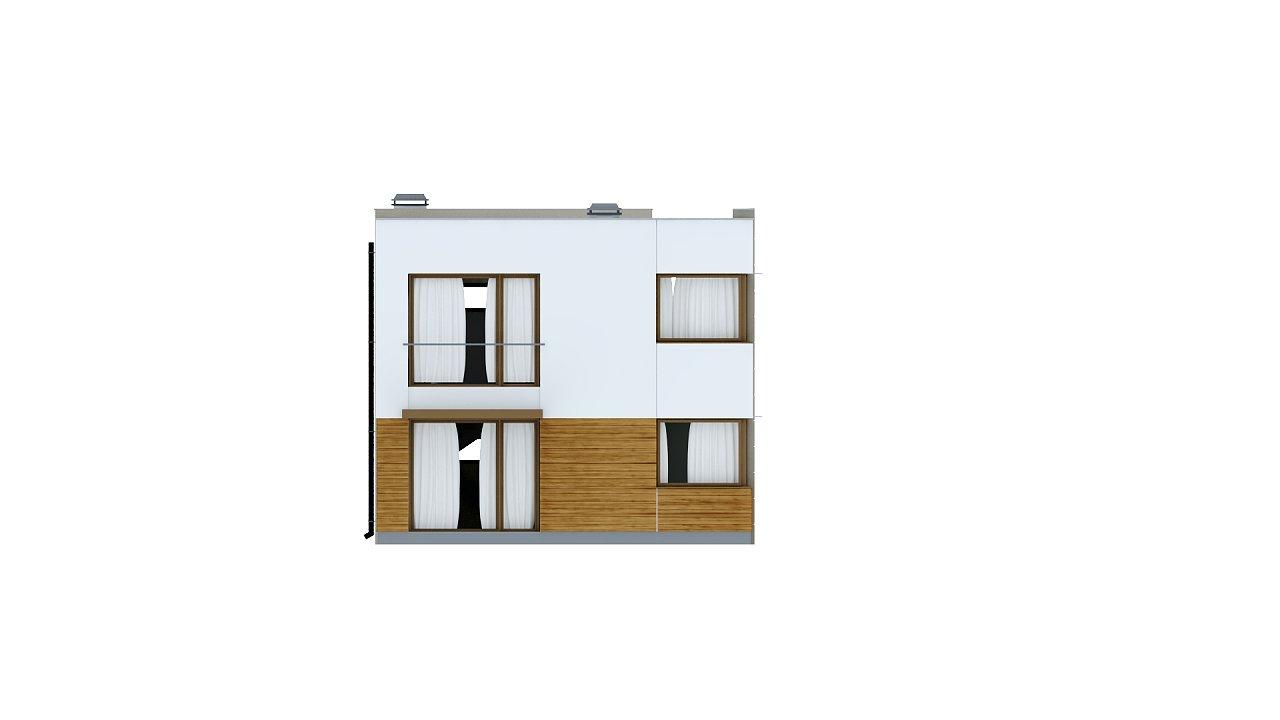 Компактный дом в стиле современного кубизма с тремя спальнями. - фото 5