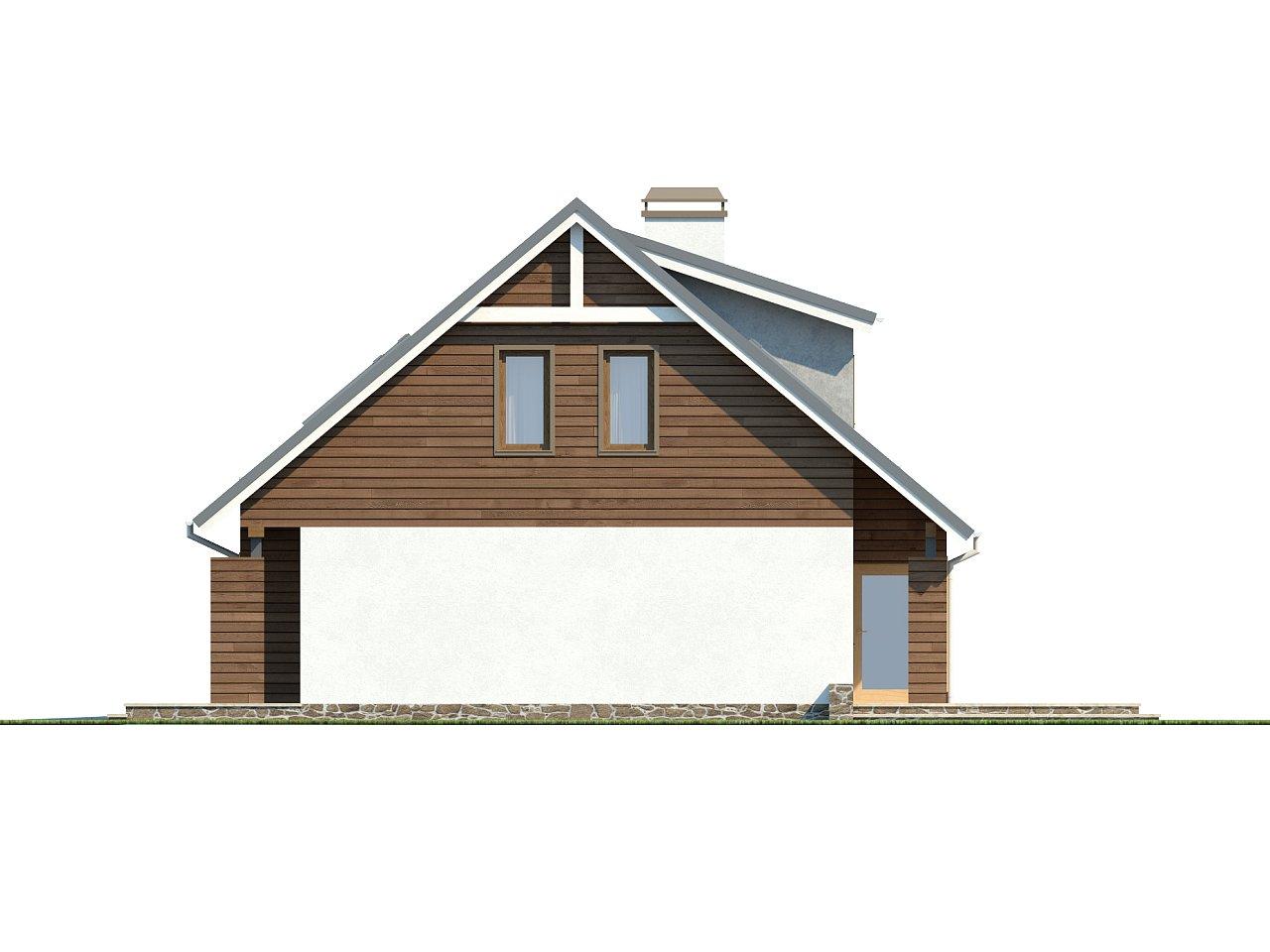 Проект функционального дома с современным мансардным окном, с дополнительной спальней на первом этаже. 6