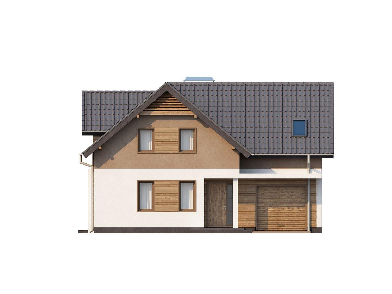 Проект удобного функционального дома с мансардой и гаражом  4
