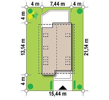 Функциональный аккуратный дом с мансардой, также для узкого участка. план помещений 1