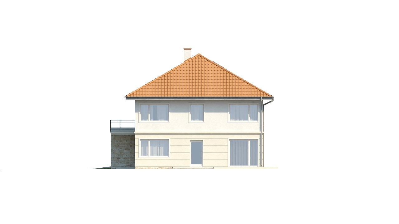 Проект просторного двухэтажного дома для симметричной застройки с террасой над гаражом. 16
