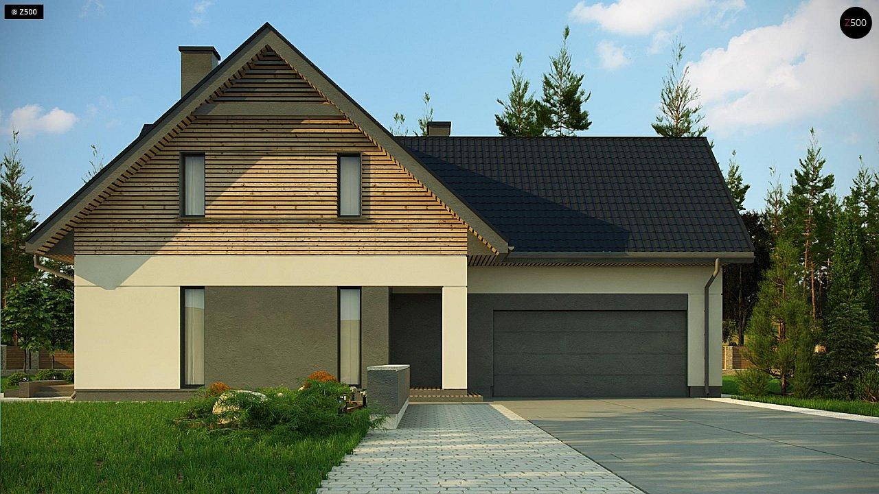 Стильный и аккуратный мансардный дом с гаражом для двух машин. 2