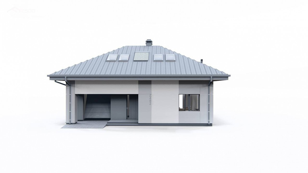 Двухэтажный дом с мансардой 5