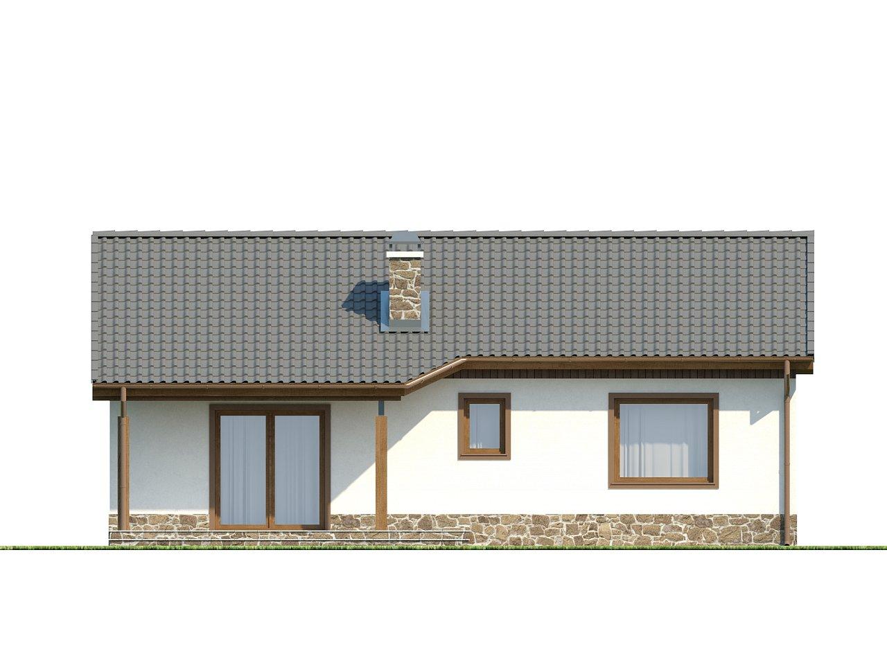Экономичный в реализации одноэтажный дом с просторной гостиной и двумя спальнями. 13