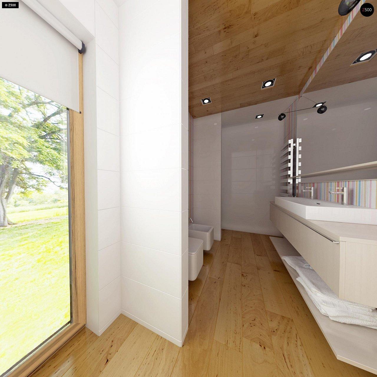 Комфортный современный дом с гаражом для двух авто и обширной террасой на втором этаже. - фото 16