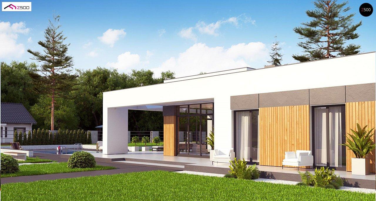 Проект стильного одноэтажного дома в современном стиле 6