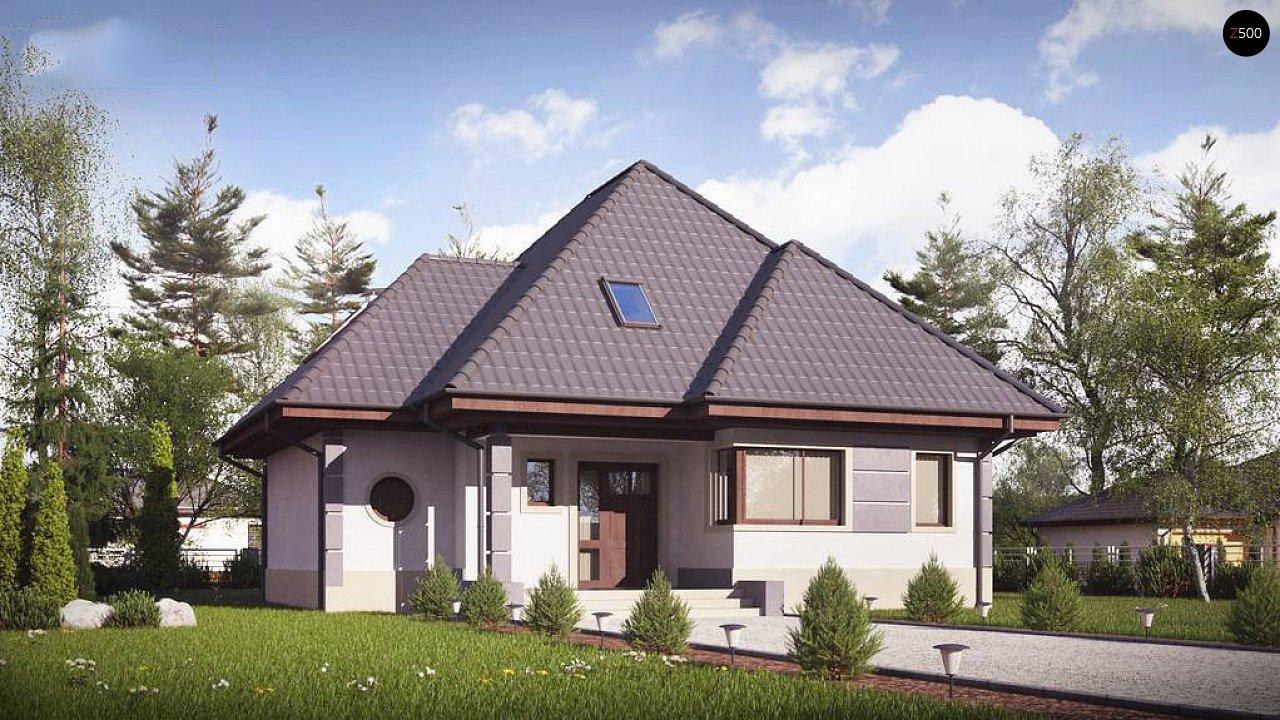 Вариант мансардного дома Z48 без гаража - фото 1