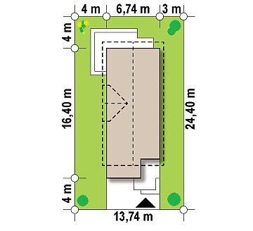 Функциональный и привлекательный дом с гаражом для узкого участка. план помещений 1