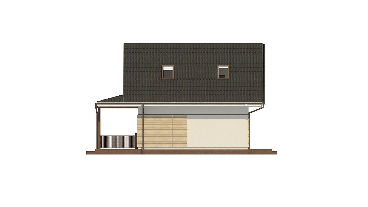 Небольшой мансардный дом с верандой, подойдет для строительства на узком участке. - фото 9