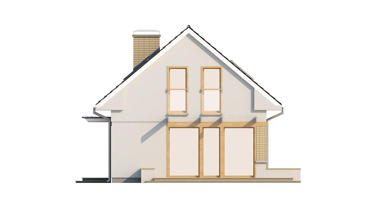 Компактный дом с дополнительной спальней на первом этаже, простой в строительстве, недорогой в эксплуатации. 24