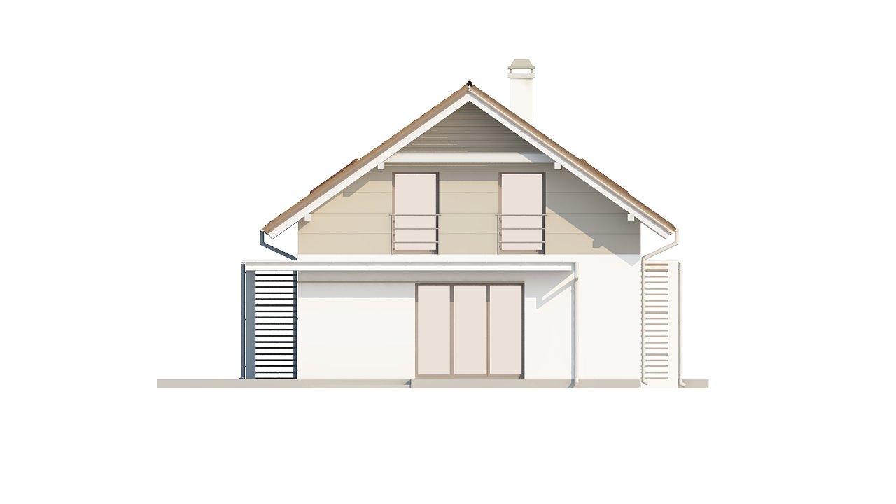 Проект простого и аккуратного дома с дополнительной ночной зоной на первом этаже. 13