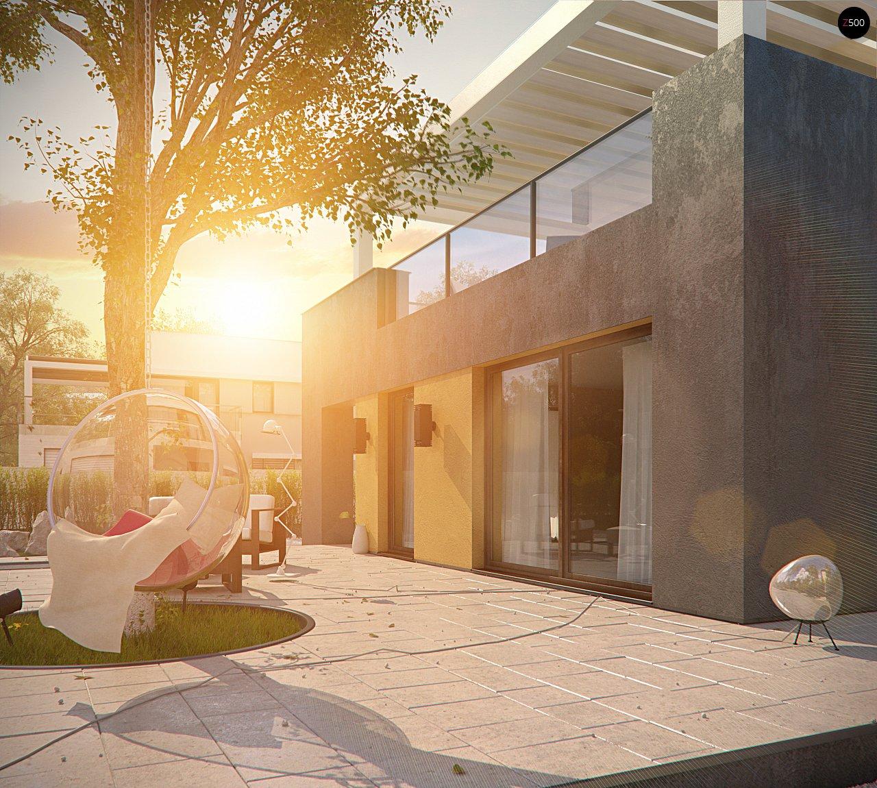 Дом характерного современного дизайна с гаражом и кабинетом на первом этаже. - фото 13
