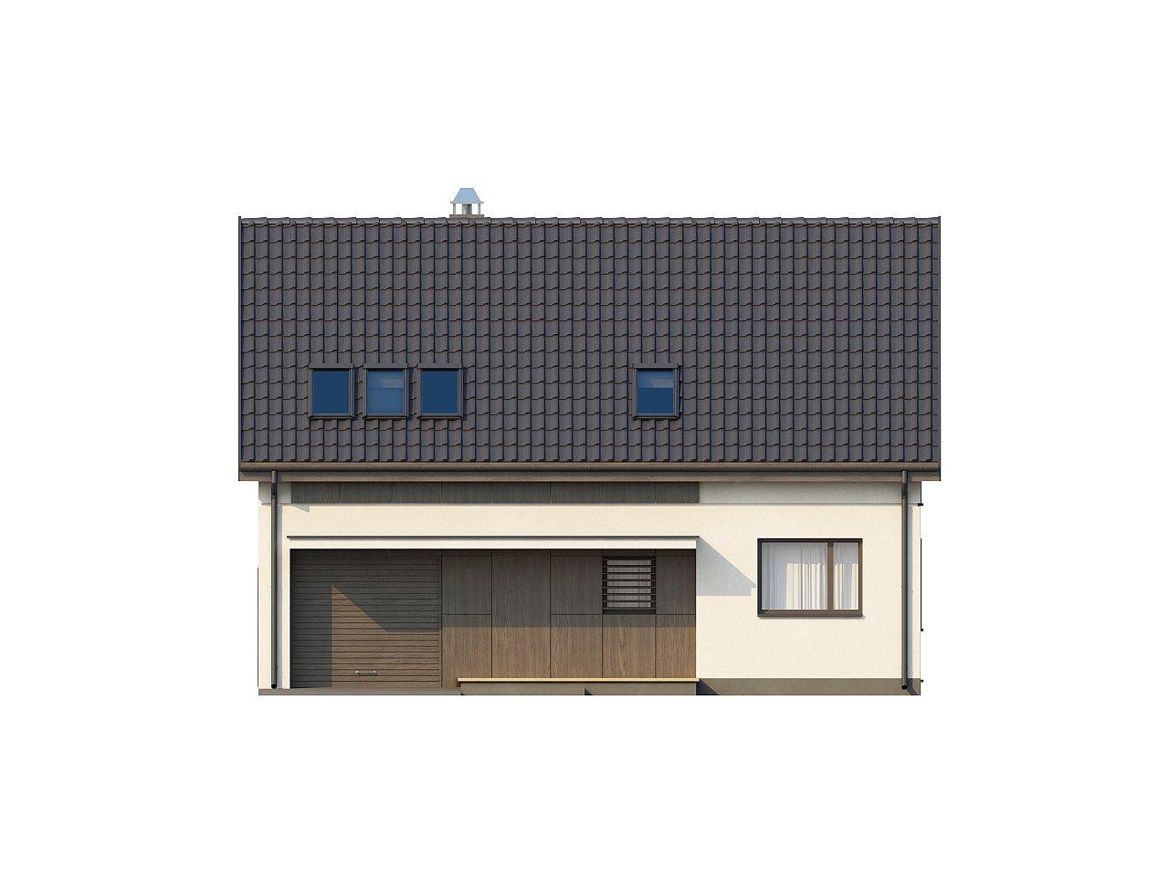 Функциональный традиционный дом с современными элементами в архитектуре, со встроенным гаражом. 13