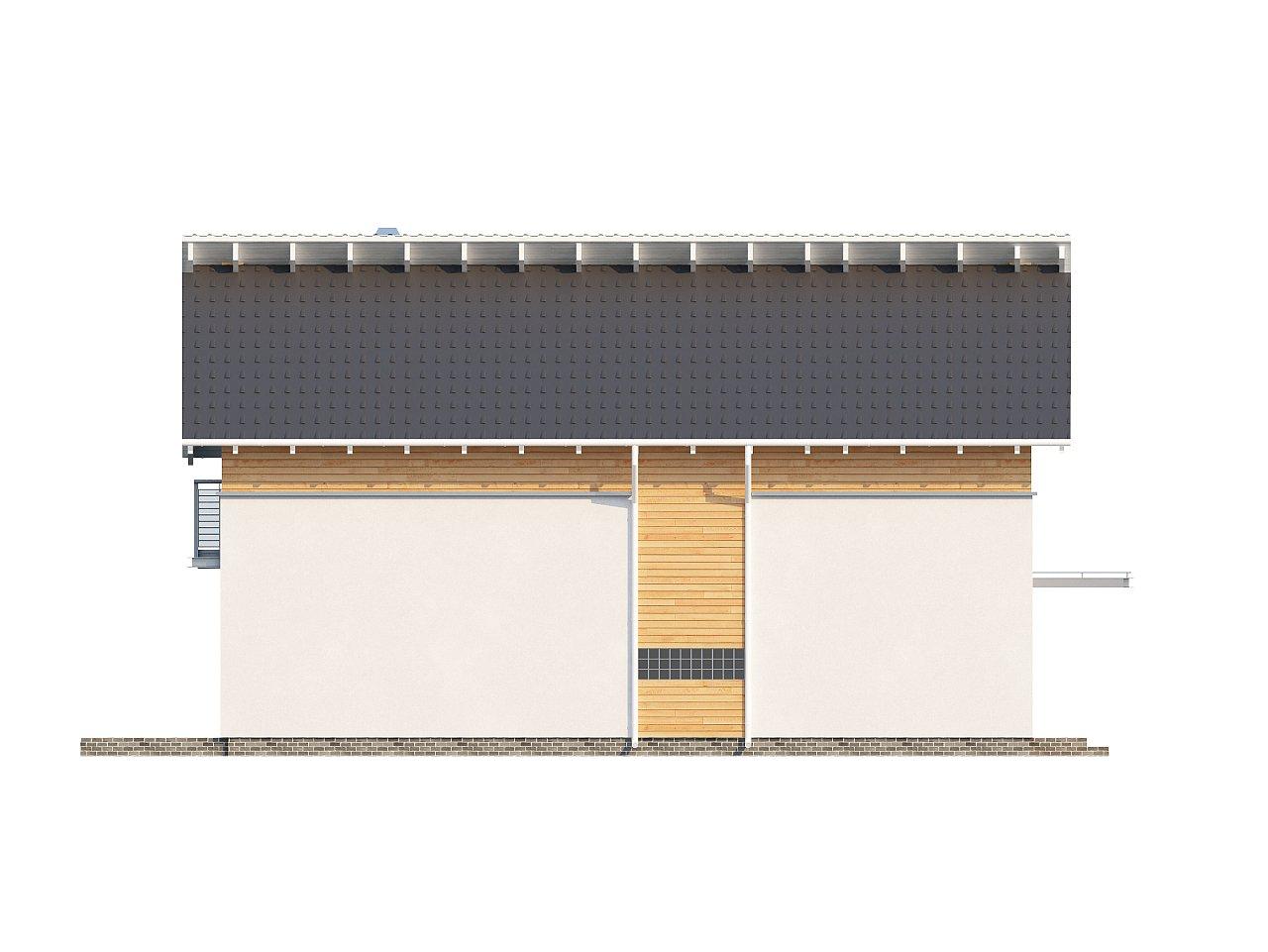 Энергоэффективный и удобный дом с современными элементами отделки фасадов. Подходит для узкого участка. - фото 5