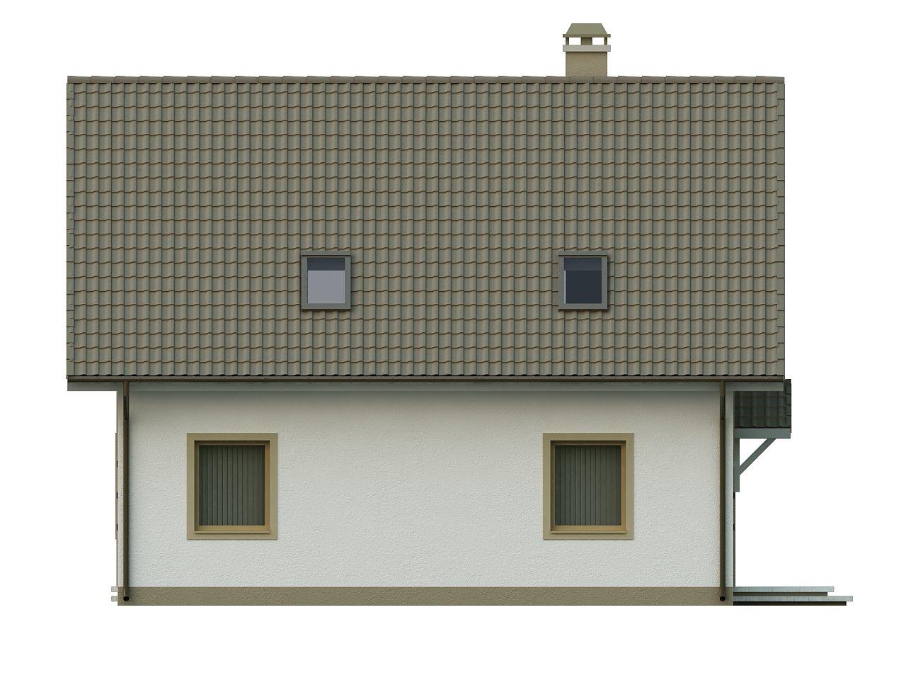 Стильный дом с мансардой, экономичный в строительстве и эксплуатации. 6