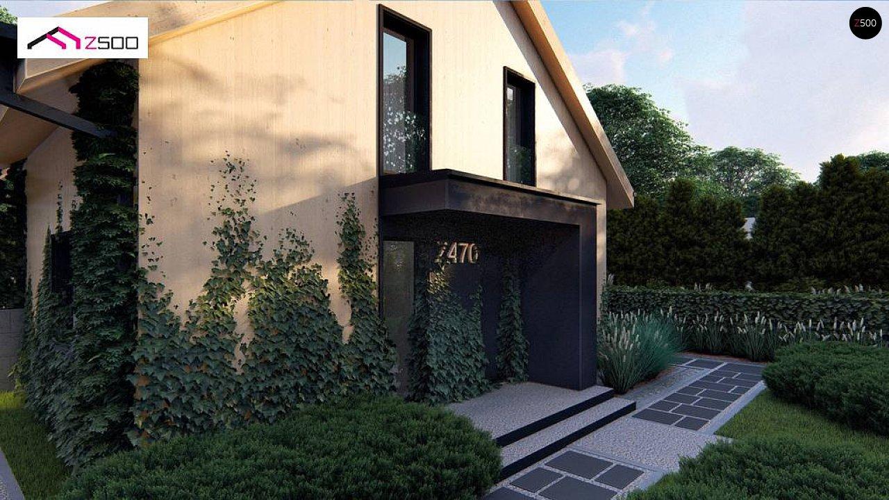 Проект просторного мансардного дома с панорамным остеклением. - фото 6
