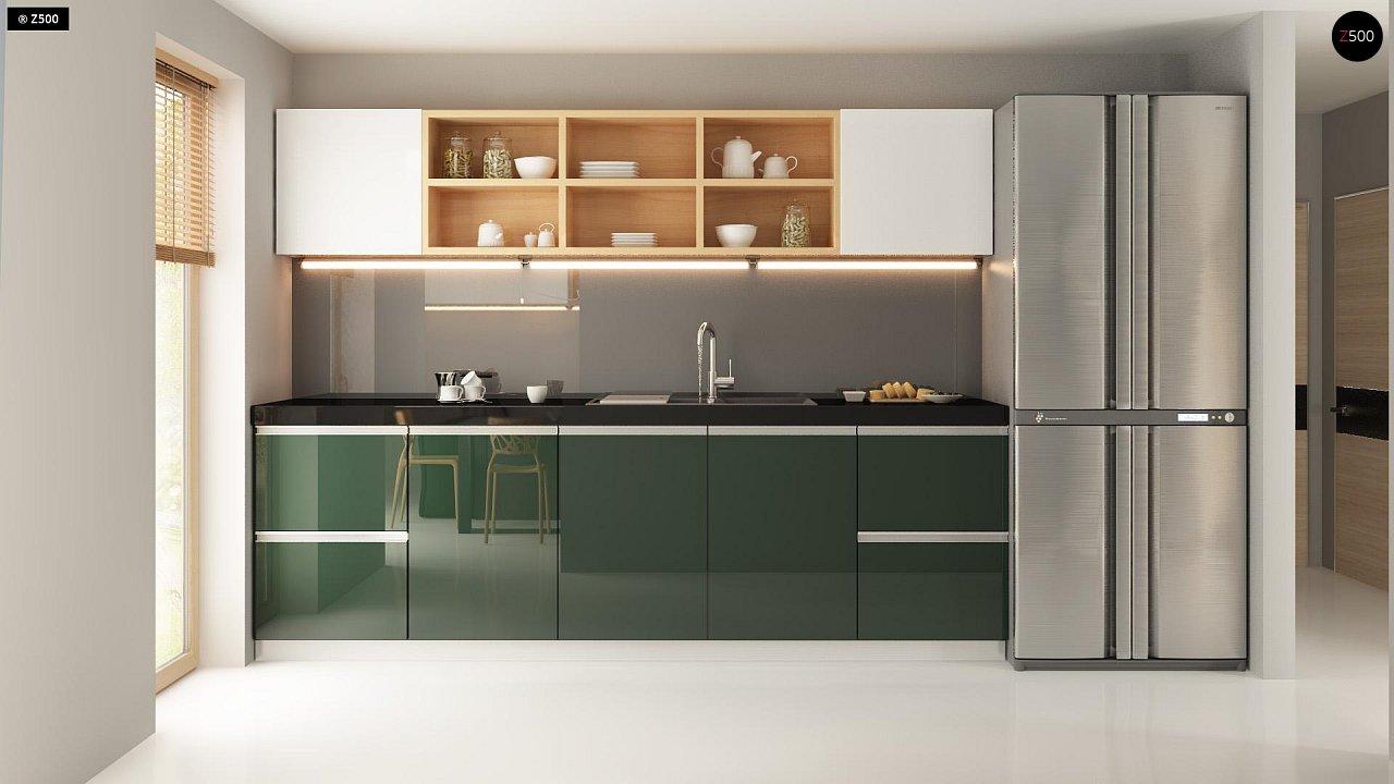 Прекрасное сочетание строгих минималистичных форм и уютного практичного интерьера. 11