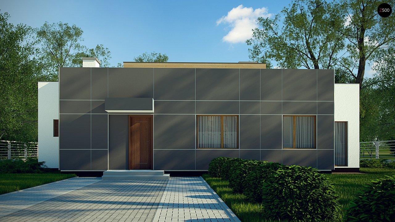 Одноэтажный дом в стиле современного минимализма 2