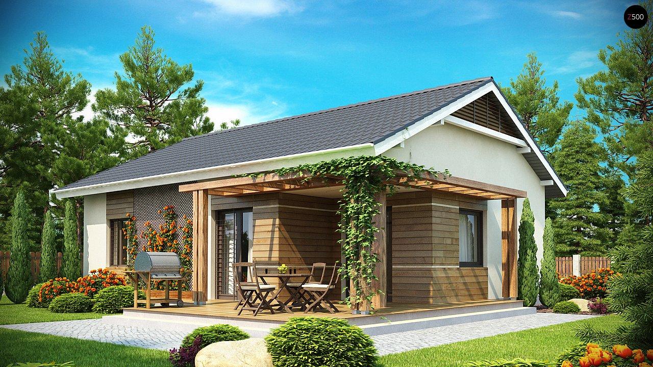 Проект компактного одноэтажного дома, экономичного как в строительстве, так и в эксплуатации. 2