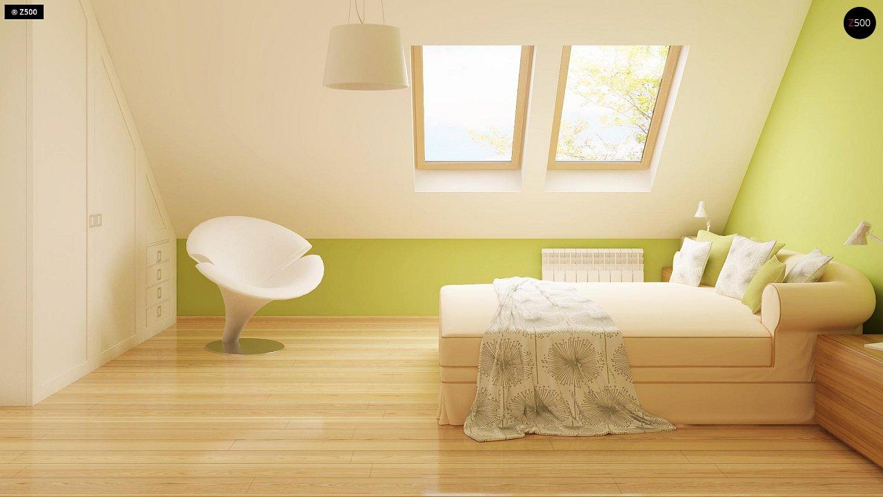 Выгодный и простой в строительстве дом с эркером в дневной зоне. 15