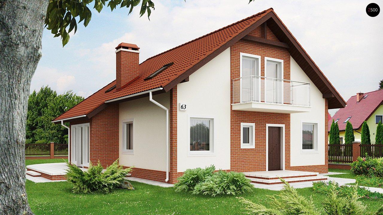 Экономичный в строительстве дом с дополнительной спальней на первом этаже. 1