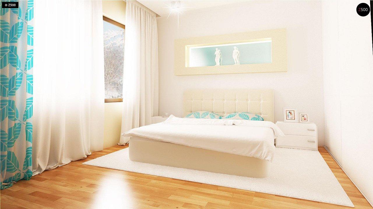 Проект традиционного одноэтажного дома с возможностью обустройства мансарды. 12