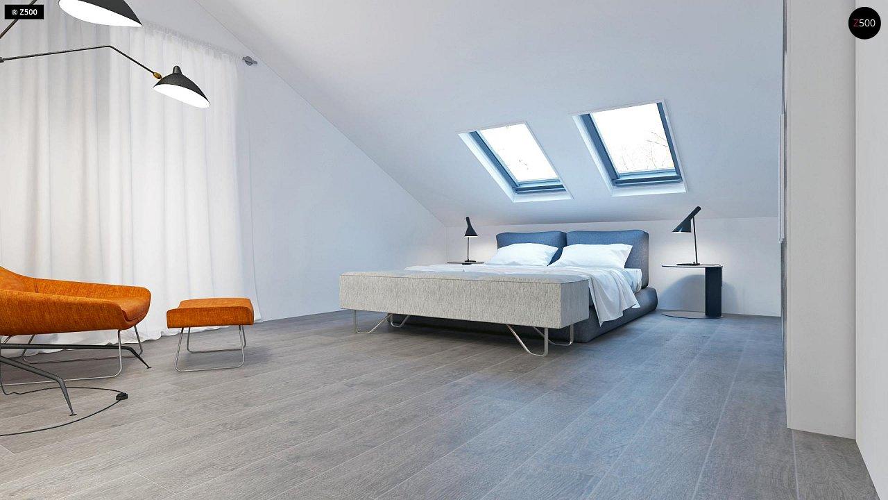 Проект функционального и удобного дома с комнатой над гаражом. 10