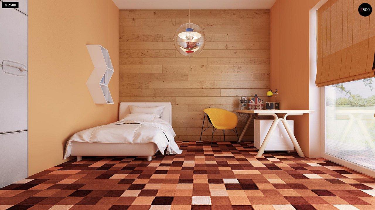 Одноэтажный практичный дом с плоской крышей современного дизайна. 8