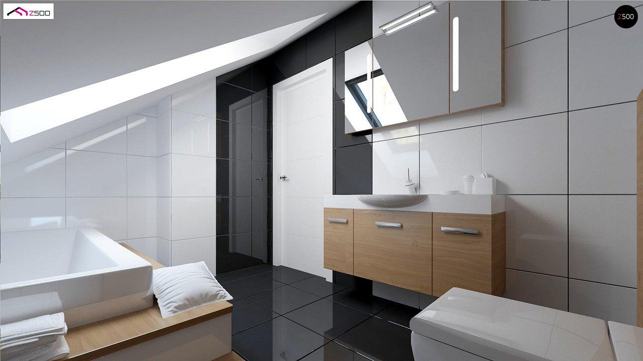 Простой и экономичный дом с мансардой и дополнительной комнатой на первом этаже. 8