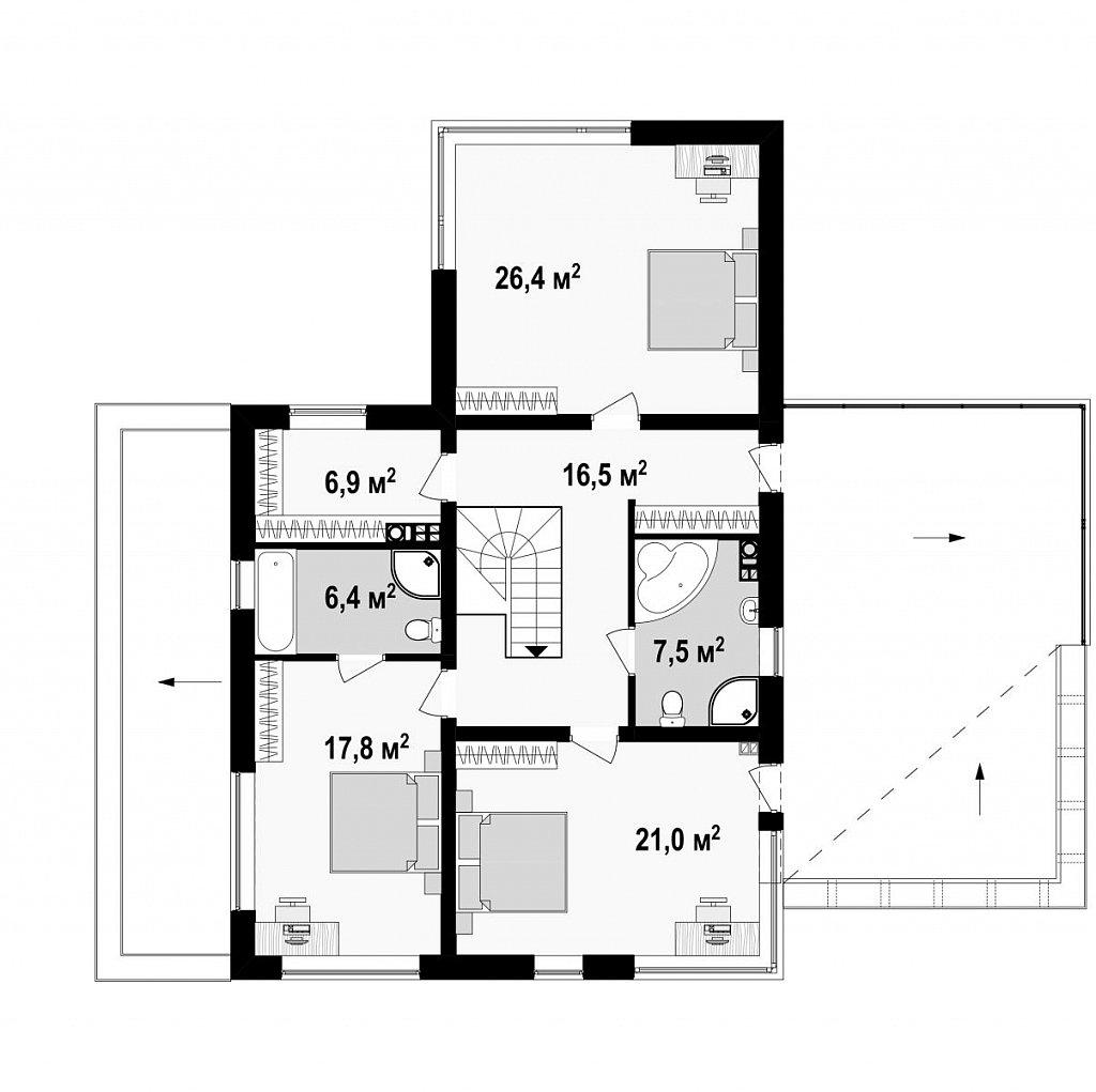 Комфортная резиденция, современный дизайн, оптимальная планировка помещений. план помещений 2