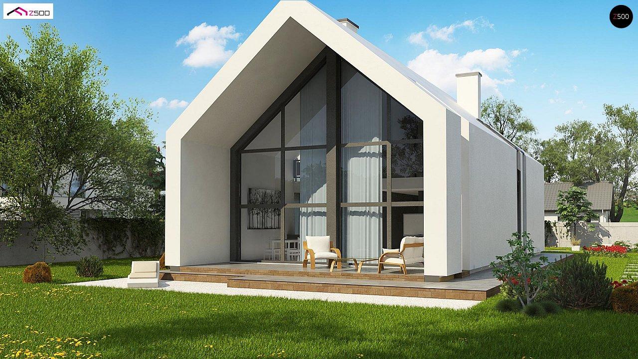 Мансардный дом со встроенным гаражом для одного автомобиля. 3