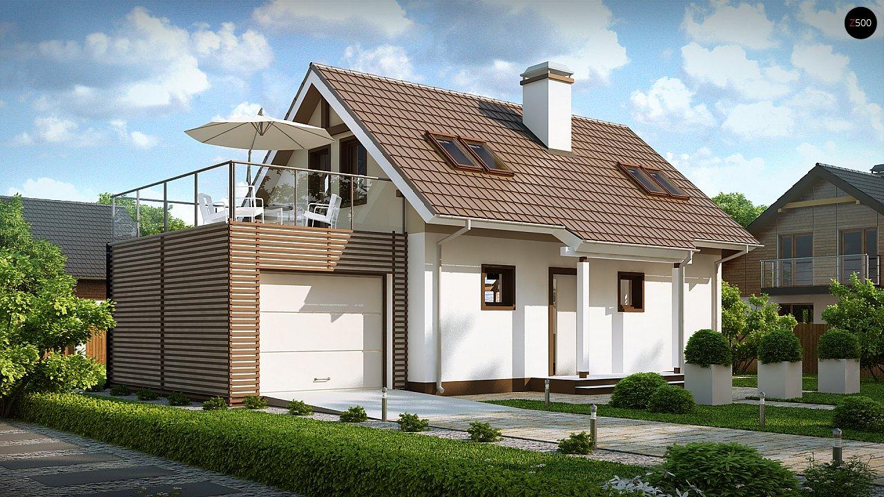 Уютный дом с террасой над гаражом, с возможностью обустройства зимнего сада. - фото 2