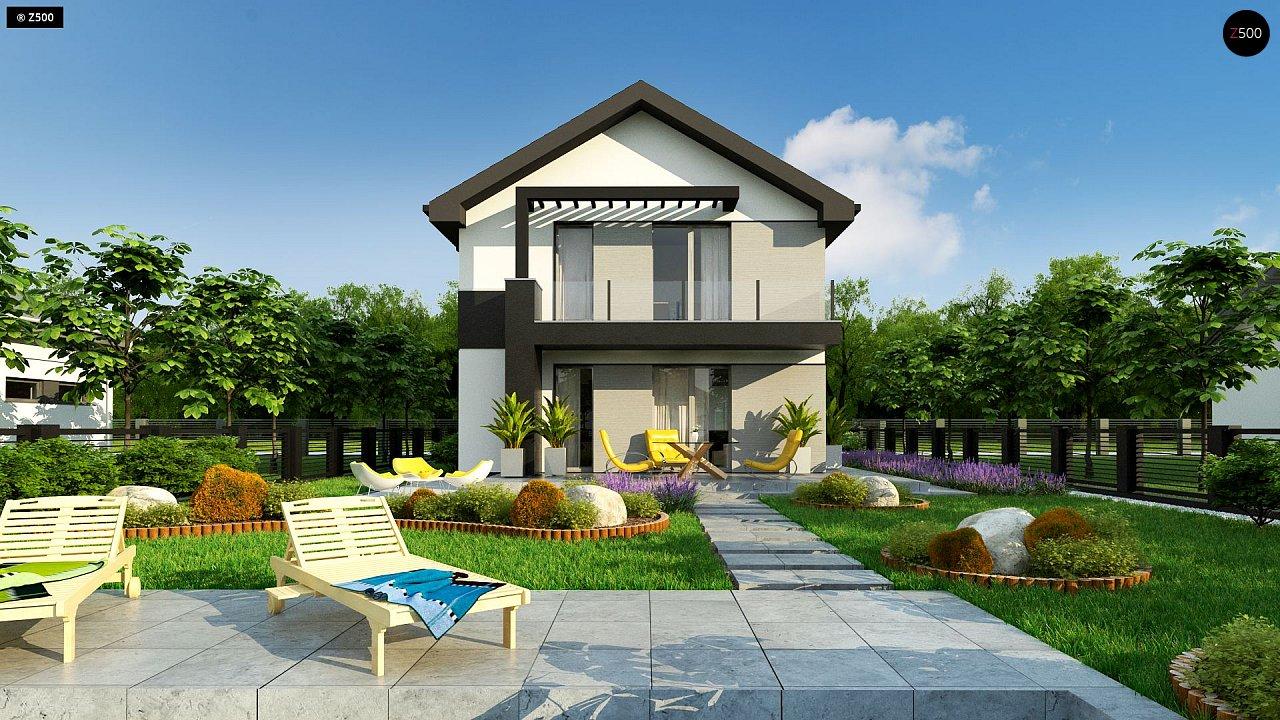 Компактный двухэтажный дом для узких участков. - фото 6