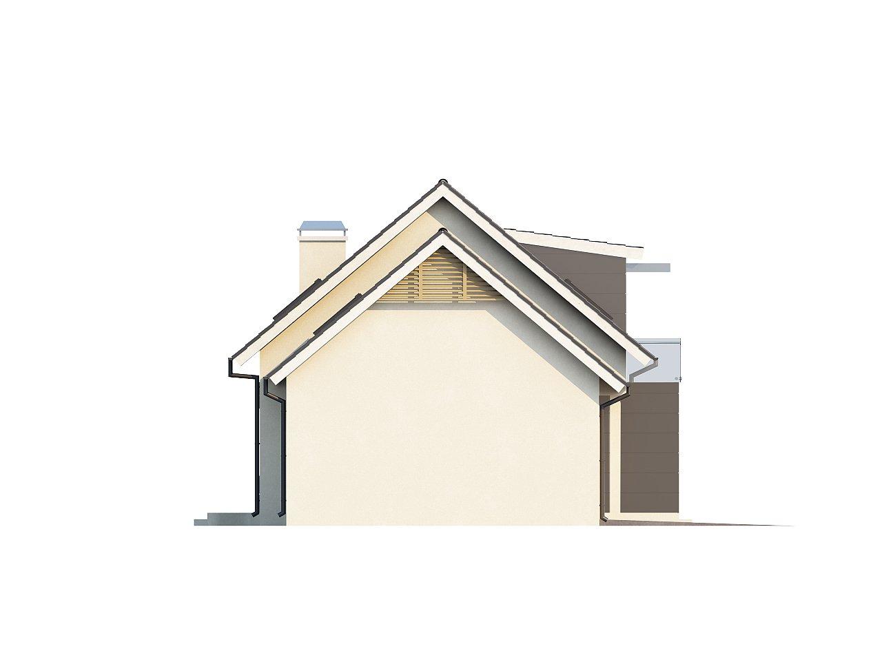 Проект дома с гаражом, с возможностью его использования в качестве двухсемейного. 5