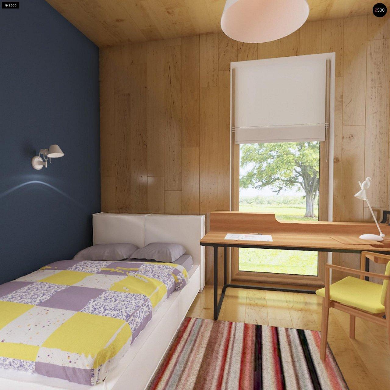 Современный функциональный дом с большой площадью остекления в гостиной. 13