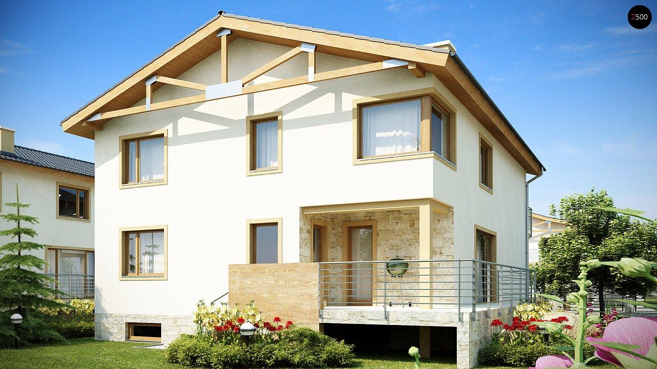 Проект выгодного и практичного двухэтажного дома с подвальным помещение, с дополнительной комнатой на первом этаже. - фото 2