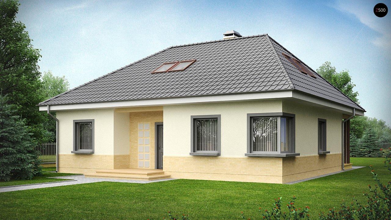 Традиционный дом с мансардой, с большим углом наклона крыши. - фото 2