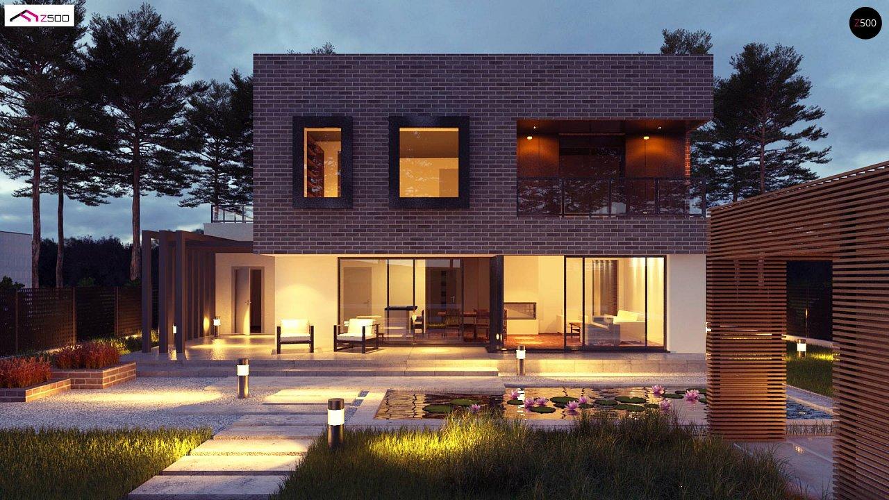 Проект двухэтажного дома с современным фасадом и удобным интерьером. 1