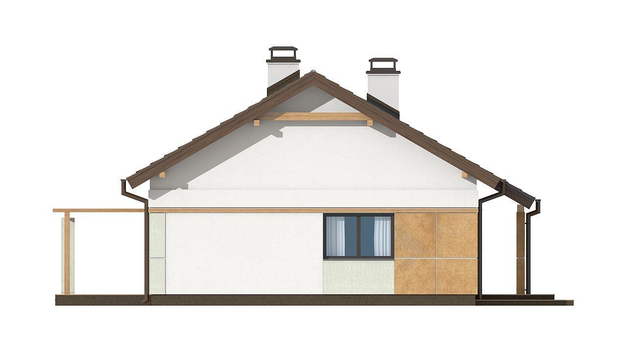 Компактный, уютный одноэтажный дом с двускатной крышей. 18